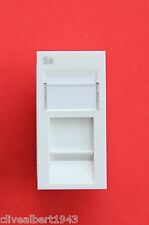 "RJ45 Cat5 Standard Euro-Style Module x 1 in White 25mm x 50mm ""NEW"""