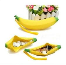 New Novelty Silicone Portable Banana Coin Pencil Case Purse Bag Wallet Pouch