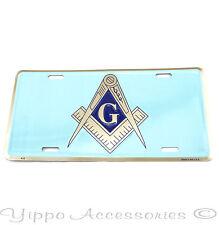 Mason Masonic Aluminum Metal License Plate Freemason Sign Tag NEW Free Shipping