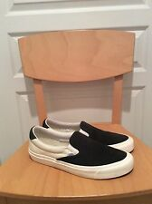 Vans CA Scotchguard Slip On; Black White; Pre-Owned; US 10