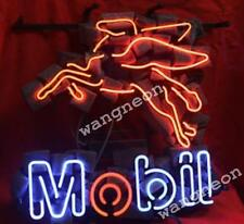 MOBIL MOTOR GAS & OILS Station Pegasus Horse Neon Sign Beer Light [BEST DESIGN]