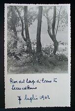 RIVE DEL LAGO DI COMO TRA LECCO ED ONNO 7 LUGLIO 1942