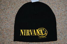 NIRVANA EMBROIDERED LOGO SMILEY BEANIE SKI HAT CAP BNWT OFFICIAL BLEACH COBAIN