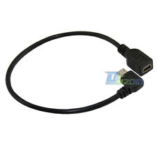 Mini B 5p Female to USB 2.0 Micro 5pin Male Left Angle Data Wire Adapter Cable