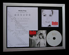 DIDO White Flag LTD MUSIC CD GALLERY QUALITY FRAMED DISPLAY+EXPRESS GLOBAL SHIP