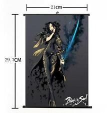 Hot Anime Blade And Soul MMO JinSoYun Sword Saber Home Decor Poster Wall Scroll