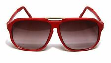 Square Aviator Sunglasses Flat Top Retro Oversized Red Men Women