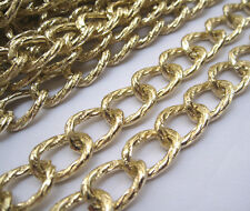 Large Curb Chain Aluminum Textured Link 14x19mm Jewelry Findings ac078 (2ft)