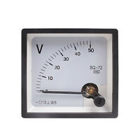 New Analog Volt Panel Meter DC 0~50V