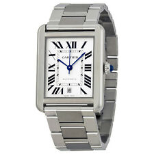 Cartier Tank Solo XL Automatic Stainless Steel Mens Watch W5200028