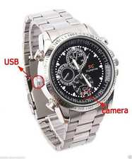 8GB Waterproof Video Voice Hidden Spy Camera Wirst Watch Steel Strap Recorder