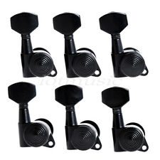 Guitar String Peg Locking Tuners Tuning Pegs Machine Heads Black 6R Inline Keys