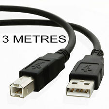 3 metre USB 2.0 Printer cable/lead CANON PIXMA MP960 MP970 MX700 MX850 Pro9000
