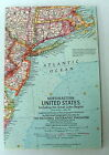 VINTAGE NATIONAL GEOGRAPHIC MAP OF THE NORTHEASTERN UNITED STATES APRIL 1959