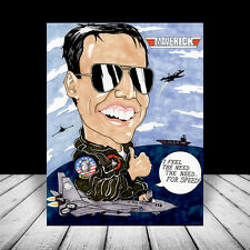 "New ""TOP GUN"" MOVIE ART, Maverick F-14 Tomcat, United States Navy Tom Cruise USN"