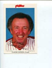 Claude Osteen Los Angeles Dodgers 1965 World Series Champ Signed Autograph Photo