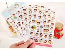 6 sheet MOMOI sticker Card Scrapbooking Diary Decoration album PVC girl stickers