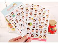 6 sheet MOMOI sticker Card Scrapbooking Diary Decoration album PVC girl stickers