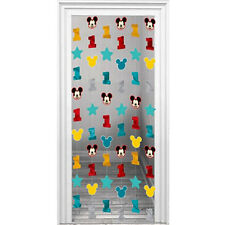 MICKEY MOUSE Fun to Be One STRING DECORATIONS (6) ~ Birthday Party Supplies Room