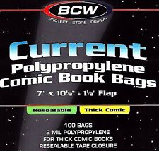 200 Current Resealable THICK Comic Bags and Boards BCW Archival Book Storage