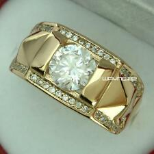 New Men 18k Gold Filled Austrian crystals  Size 15 Ring jewelry r245