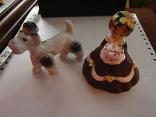Shafford Co Japan 'Happy Birthday' girl figurine, also porcelain poodle