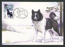 Bielorussia MK cani caccia cani Laika maximum carta carte MAXIMUM CARD MC cm d5981
