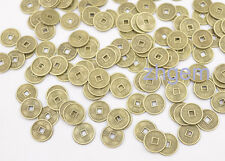 100 pcs Mix replica chinese Qing Dynasty tiny 10mm coins feng shui copper alloy