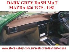 DARK GREY DASH MAT, DASHMAT MAZDA 626 SEDAN 1979 - 1981 DARK GREY