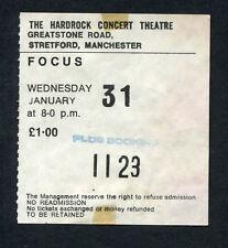 Original 1973 Focus concert ticket stub Hardrock Manchester Uk Hocus Pocus