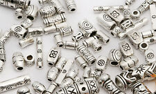 45g (about 100pcs) Mixed Tibet Silver Spacer Beads For Bracelet Jewelry Making