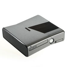 Brushed Titanium Metal Effect XBOX 360 Slim decal skin sticker cover wrap