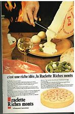 Publicité Advertising 1979 Fromage la raclette Riches Monts