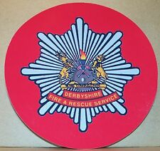 Fire and Rescue Service Derbyshire vinyl sticker personalised..