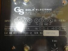 Sola 83‑05‑230‑2 5vdc 3a Power Supply