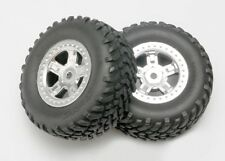 Traxxas [TRA] Mounted SCT Wheels and Tires 1/16 Slash (2) 7073 TRA7073