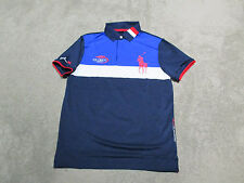 NEW Ralph Lauren RLX Polo Shirt Adult Extra Small 2015 US Open Big Pony Blue XS