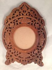Beautiful Vintage Hand Carved Wood Picture Frame, No Maker