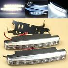 2pcs Car Daytime Running Light 8 LED DRL Daylight Kit Super White Head Lamp TMPG