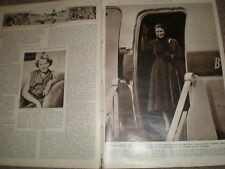 Photo article Princess Margaret on BOAC Canopus  1955 ref Z