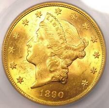 1890 Liberty Gold Double Eagle $20 - ICG MS63 - Rare Date - $12,350 Value!