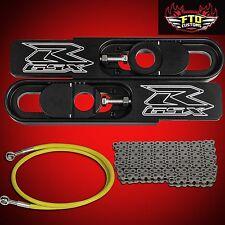 2004-2005 GSXR 600 750 Swingarm Extensions, Chain, & Yellow Brake Line