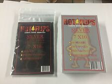 200 SILVER AGE (7 1/4) Comic Book Poly Bags FLIP-N-STICK w SILVER Backing Boards
