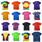 Childrens Tie Dye T Shirt Top Tee Tye Die Music Festival Hipster Kids Boys Girls