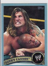 2011 TOPPS WWE JOHNNY CURTIS BLUE PARALLEL WRESTLING CARD #84  2011 MADE