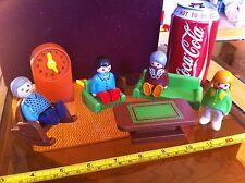 Playmobil enfant version maison familiale fauteuil à bascule grand-père horloge grand-père