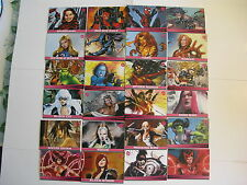 2011 Marvel Dangerous Divas 72 card Set of Marvel Women by Rittenhouse