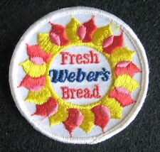 WEBER BREAD EMBROIDERED SEW ON ONLY PATCH BAKERY INTERSTATE BRANDS UNIFORM