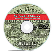 Arkansas AR, People, Cities, Family History and Genealogy 28 Books DVD CD V94
