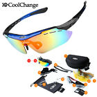 Coolchange Polarized Sunglasses 6Lens Cycling Bike Driving MTB Sports Glasses